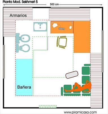 Plano interior de la Pirámide Sekhmet
