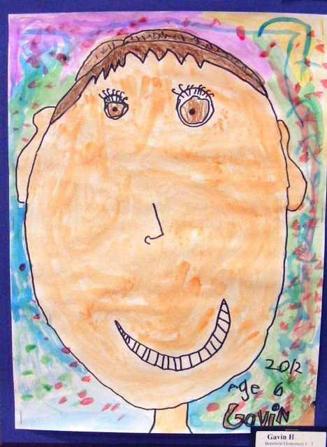 Field Elementary Art Blog!: 1st Grade Self-Portraits