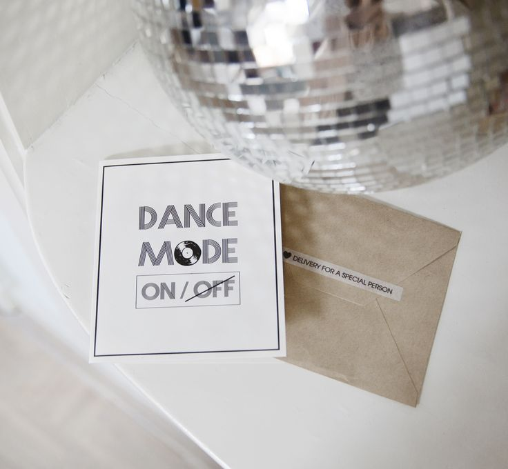 TheGiftLabel: DanceMode on/off #Postcard #Disco #Party #DeliveryForASpecialPerson #SendWithLove