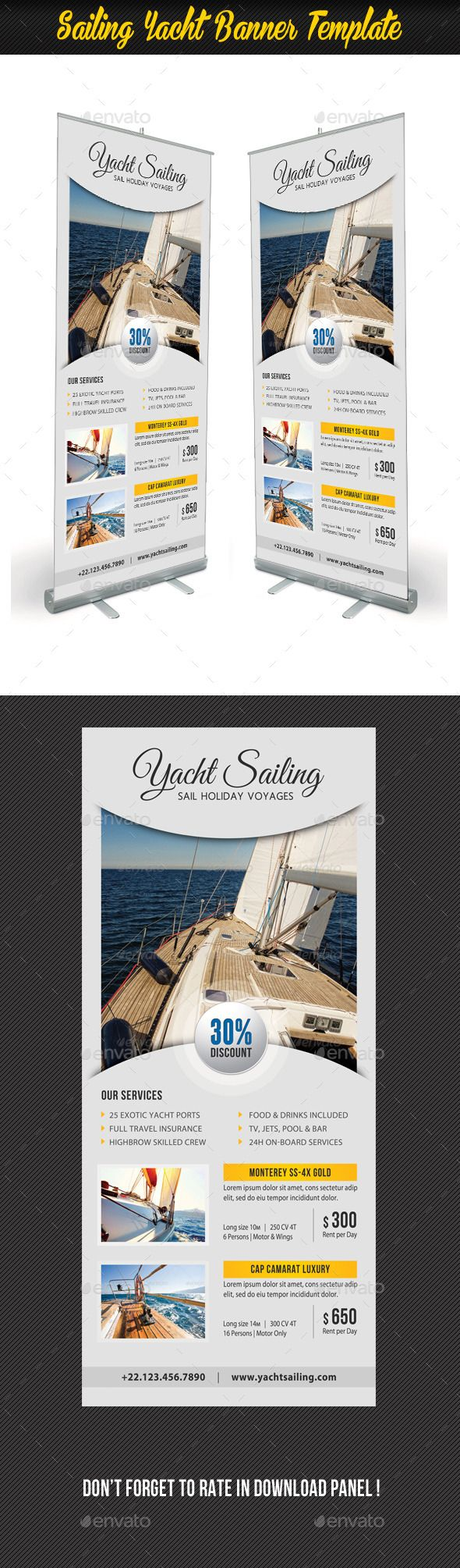 Sailing Yacht Banner Template #design Download: http://graphicriver.net/item/sailing-yacht-banner-template-06/11854861?ref=ksioks