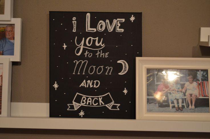 handlettering, chalkmarker, beschrijving, krijtstift, to the moon, chalk lettering,