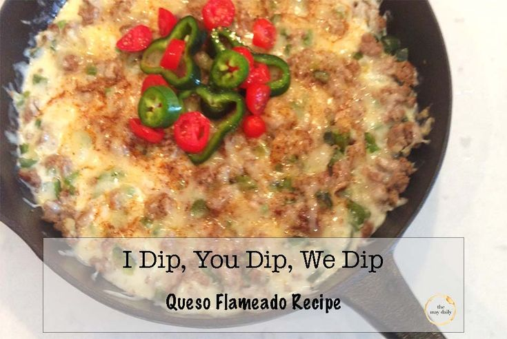 I dip you dip we dip: Queso Flameado from #themaydaily #queso #mexican #chips #quesoflameado #texmex #cincodemayo #cheese #sausage