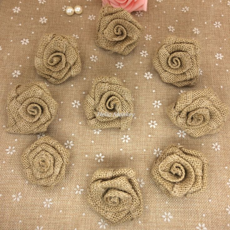 Natural Jute Burlap Hessian Flower Rose Handmade Vintage Wedding Decoration Party Decoration Hat Craft DIY Accessories -- To view further for this item, visit the image link.