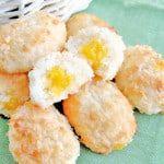 coconut macaroon easter egg cookies