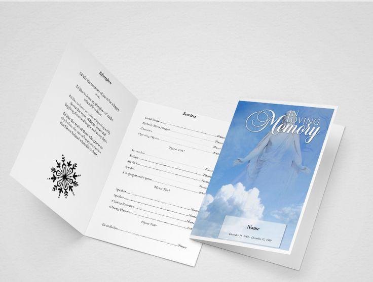 25+ parasta ideaa Pinterestissä Funeral program template free - free funeral programs