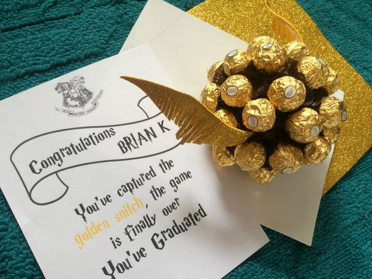 Harry Potter Theme Graduation Gift Golden Snitch Made Of Ferrero Rocher