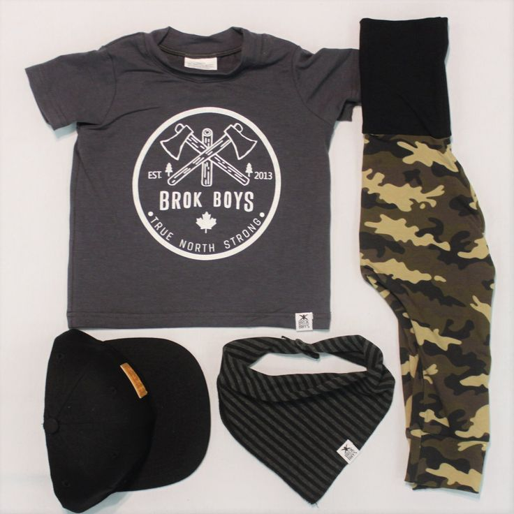 Baby/Kids Outfit Ideas from Brok  Boys. Made in Canada 🇨🇦
