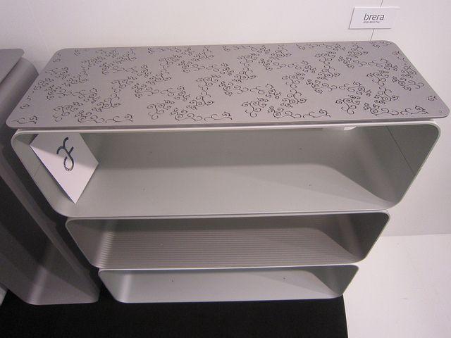 #brera bookcase anodized and laser cut finishing, design by Marco Piva for #altreforme, #district collection at Salone del Mobile 2011 #interior #home #decor #homedecor #furniture #aluminium