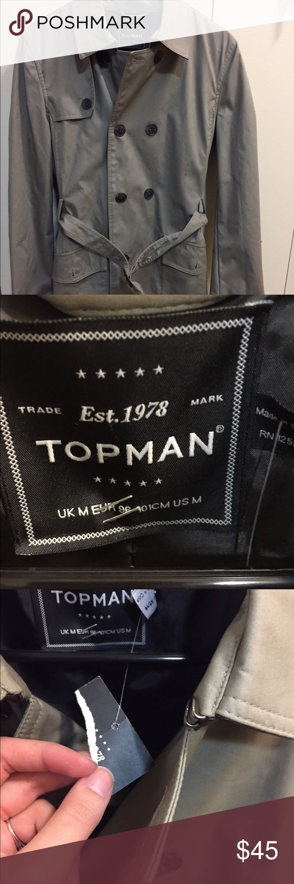 Topman trenchcoat NWT . Topman Jackets & Coats Trench Coats