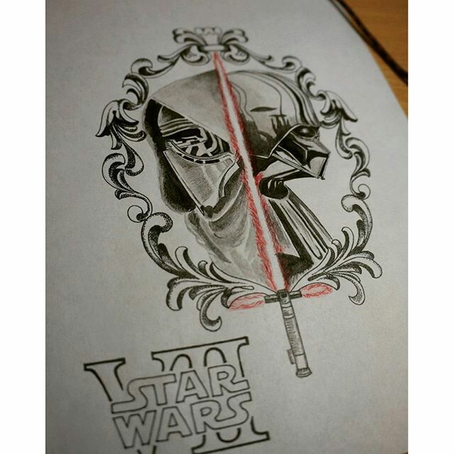 #тату #идея #art #tatoo #sketch #tattoo #арт #скетч #starwars