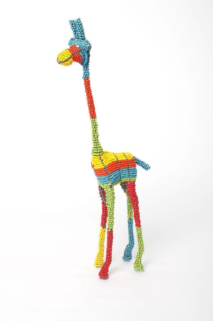 Hand made beaded giraffe