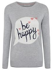 Be Happy Slogan Jumper