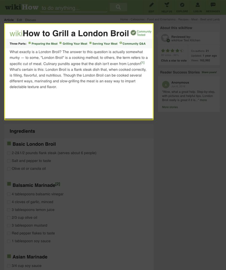 How to Grill a London Broil: 13 Steps (with Pictures) - wikiHow