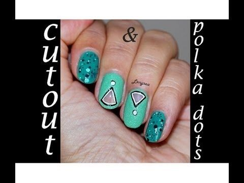 47 best cutout nail designs images on pinterest make up blue cut out triangle nail design prinsesfo Gallery