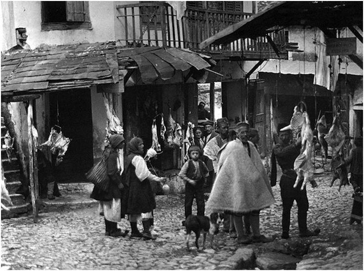Παραμυθιά, κρεοπωλεία, 1913, François Frédéric (Fred) Boissonnas (1858-1946)