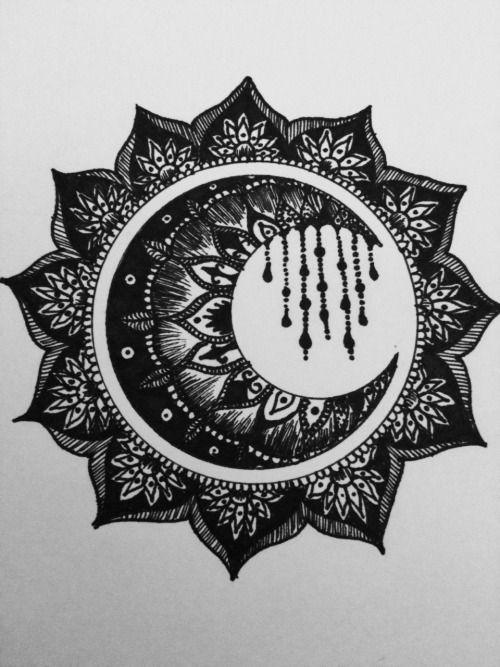 mandala sun and moon - Google Search   tatuajes | Spanish tatuajes  |tatuajes para mujeres | tatuajes para hombres  | diseños de tatuajes http://amzn.to/28PQlav