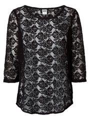 Amazing lace blouse from VERO MODA. Go for black jeans or leggings for an elegant head-to-toe black look. #veromoda #lace #top #fashion #black @VERO MODA
