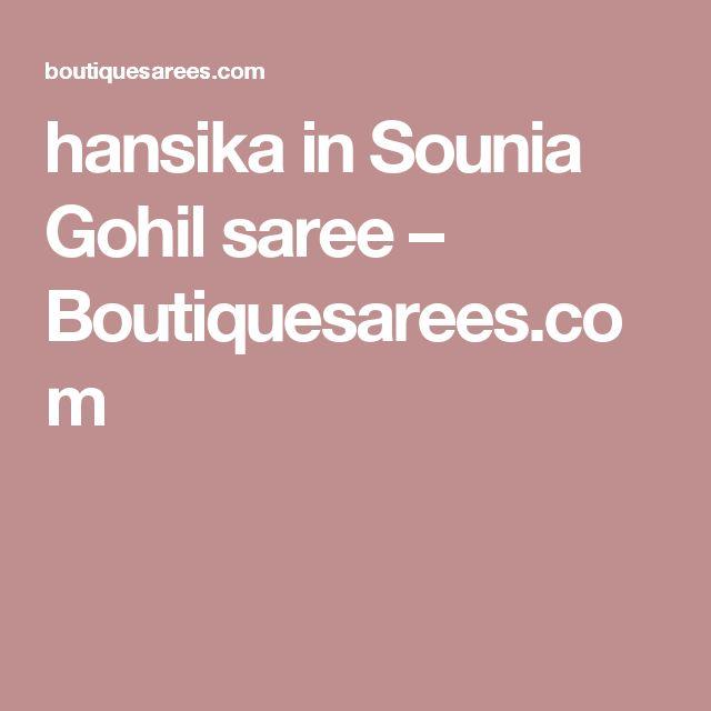 hansika in Sounia Gohil saree – Boutiquesarees.com