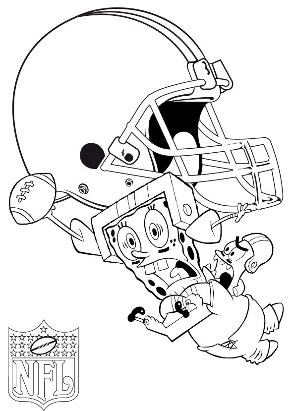 Star Playing Football Nfl Coloring Pages Football