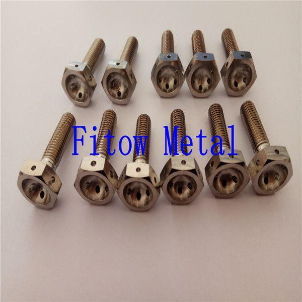 m8 titanium flange hex bolt race drilled head for lock ,Titanium