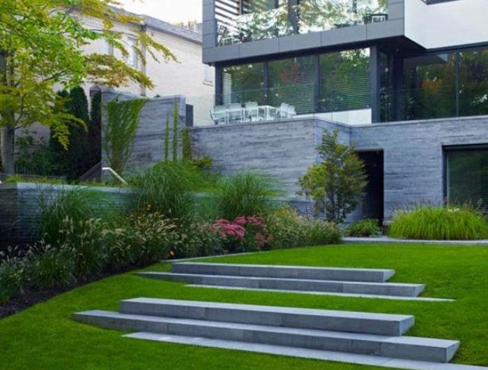 Les 25 meilleures id es de la cat gorie jardin en pente sur pinterest arri re cour en pente for Amenagement exterieur maison terrain en pente