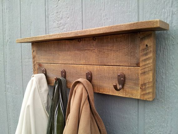 wall mounted wooden coat racks 1