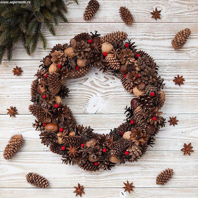 Новогодний венок своими руками - Babyblog.ru