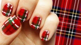 Scottish Kilt Nail Art Tutorial, via YouTube.