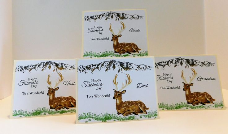 Card Sets, 12 Deer cards, Masculine Cards, Birthday Cards, Father's Day, Uncle Cards, Grandpa Cards, Brother cards, Thank You Card, Son card by THISANDTHAT4YOUShop on Etsy