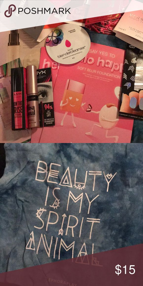Makeup Samples (beauty blender, nyx, Versace, etc) LUXURY