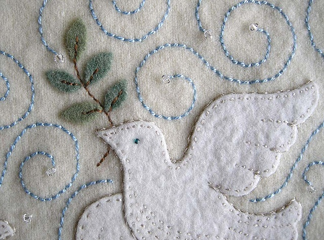 Peace Dove - Dove with Olive Branch
