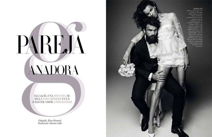 Henkien Hipster Häät Pääkirjoitukset: Vogue Espanja morsiamet 2013