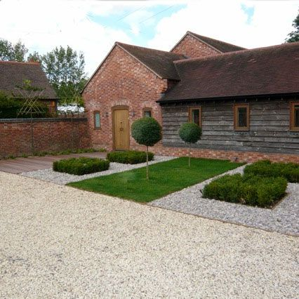 Minimal barn conversion garden by henley on thames garden designer jo