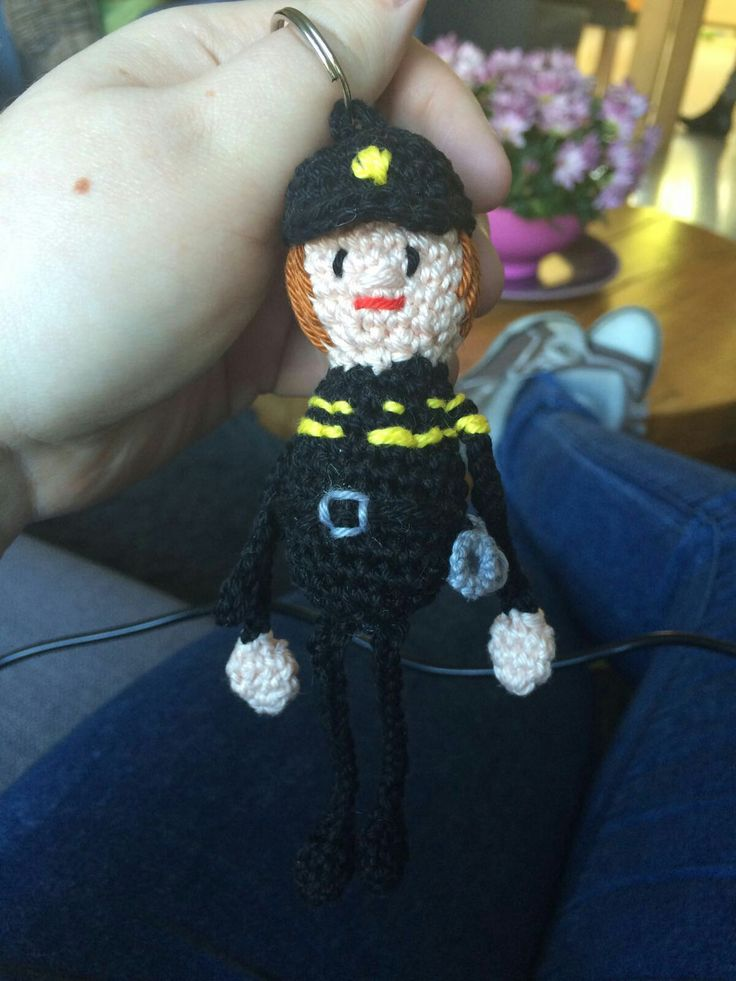 Politieman sleutelhanger