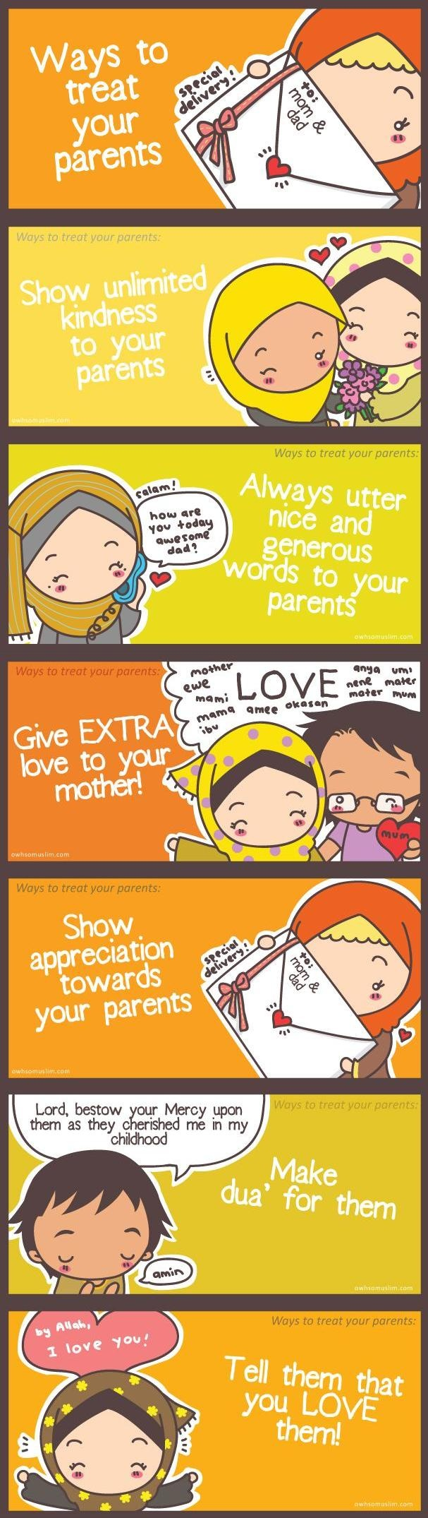 Masya Allah ;')  Having parents is one of the biggest gift given to us by Al-Mighty Allah . the ones who will always love and care for us no matter when or what happens . Alhamdulillah for our parents