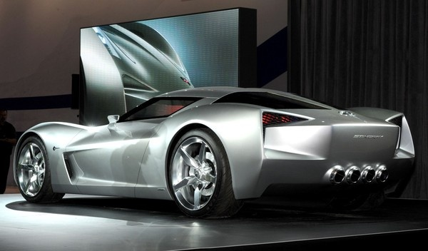 Corvette Stingray concept car, seen in Transformers. I won't ever like a car more than I like this one.