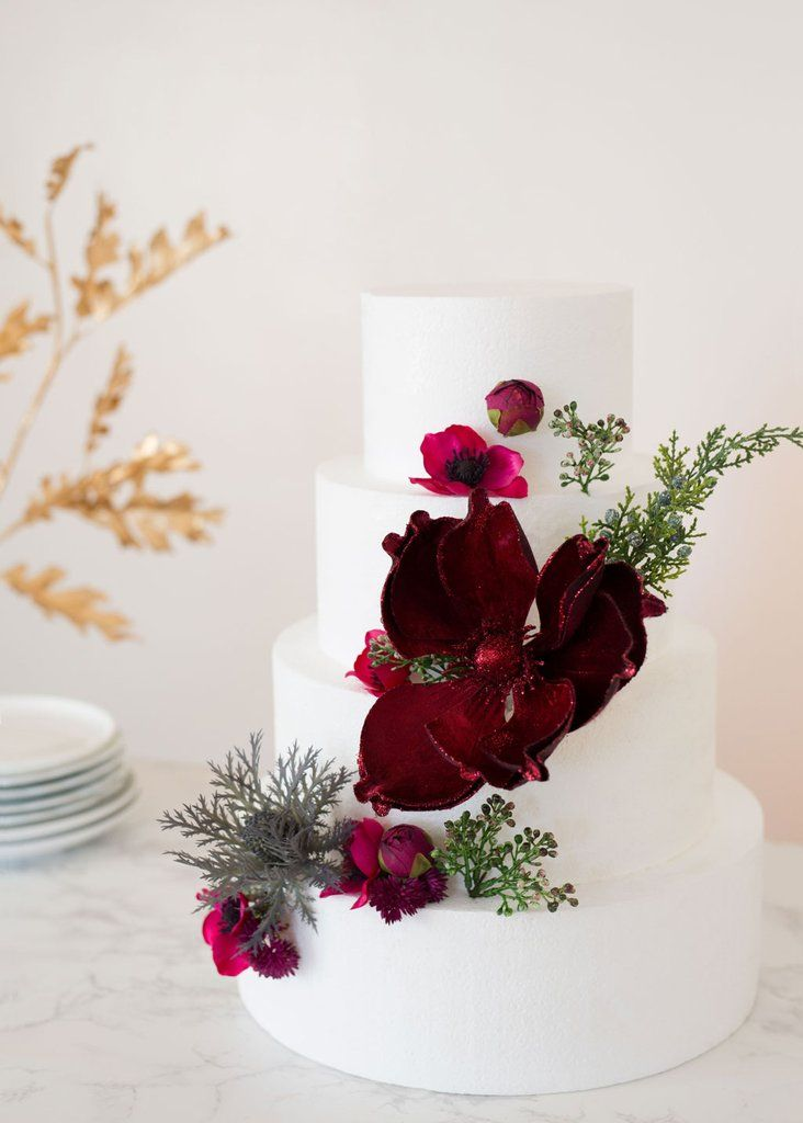 How To Put Silk Flowers On A Wedding Cake Floral Cake Topper Wedding Cake Decorations Silk Flower Cake Topper
