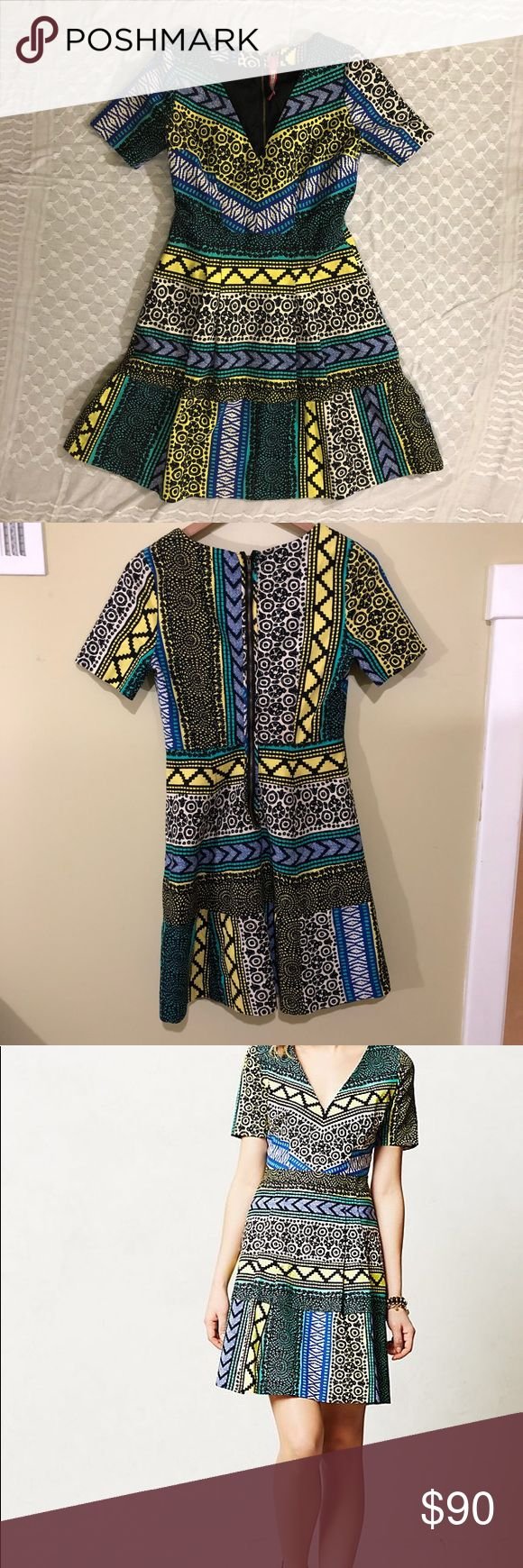 Anthropologie Plenty by Tracy Reese New Moon Dress Vibrant Anthropologie dress - Plenty by Tracy Reese.  This dress is so flattering and extremely well made. EUC. Anthropologie Dresses