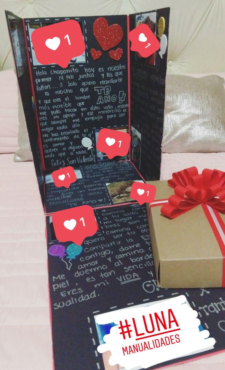 Caja sorpresa   Regalos para novio hechos a mano, Regalos