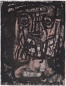 Ian Fairweather Portrait of the Artist 1962 NGA
