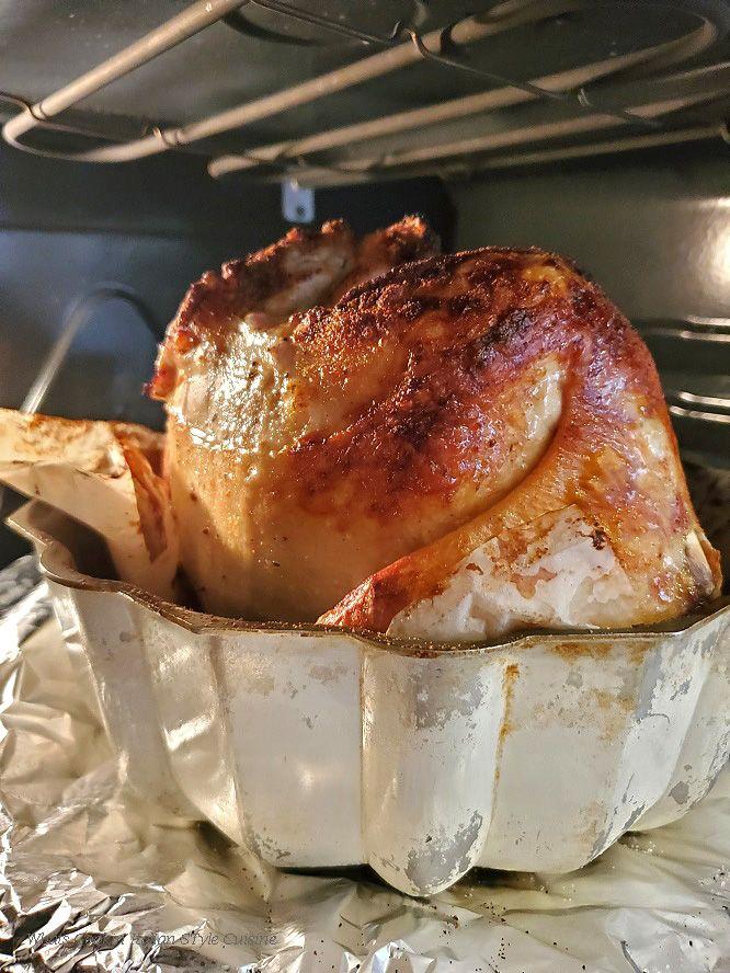 Bundt Pan Roasted Chicken   – food