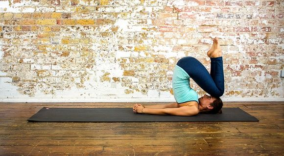 Easy plow plose - Yoga Poses | YOGA.com It's supposed to be easy but this looks pretty advanced to me lol
