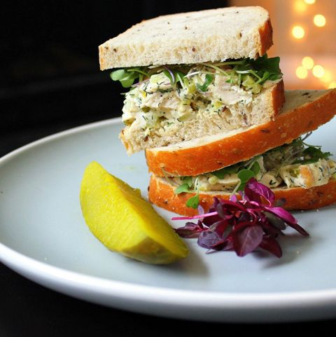 Best Dill Chicken Salad Sandwich | Small Kitchen Chronicles - making ...