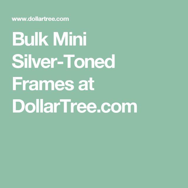 Bulk Mini Silver-Toned Frames at DollarTree.com