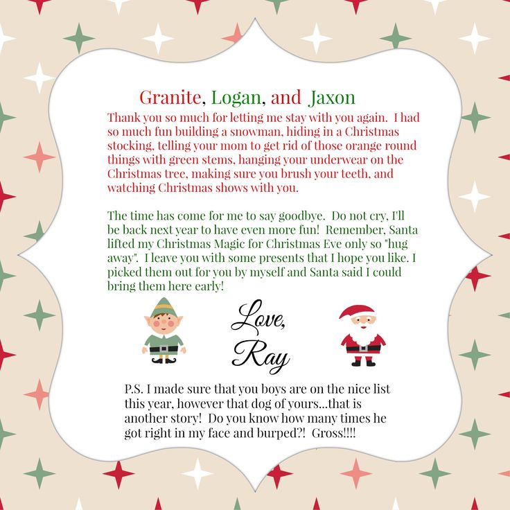 Best Elf On The Shelf  Letters Images On