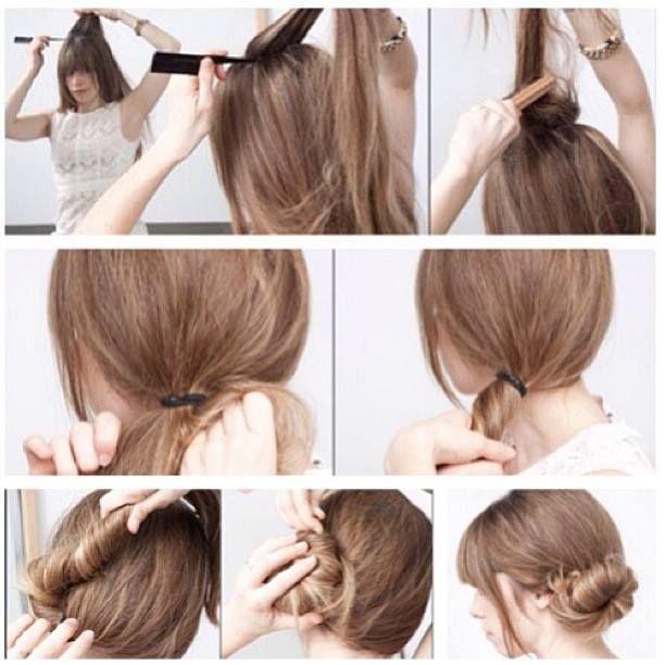 Chignon basso laterale #hair #chignon