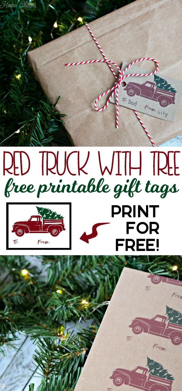 Free Printable Red Truck Christmas Gift Tags | FREE Christmas ...