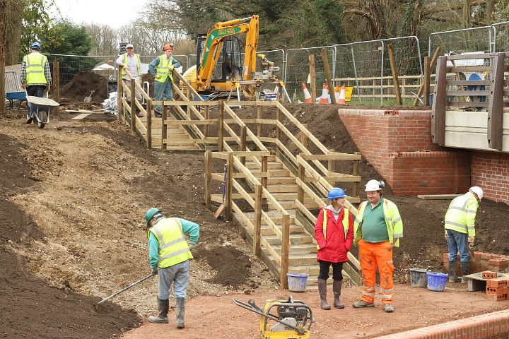 Access steps at Compasses Bridge.