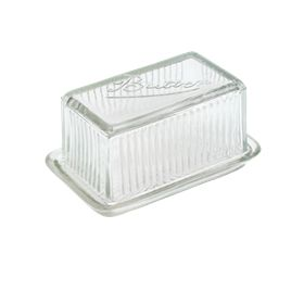 Glass butter dish (Leilas General Store)
