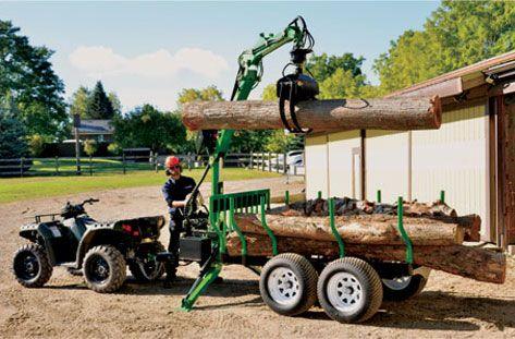 Wallenstein Timber Talon Log Grapple Trailers - Wallenstein Outdoor Power Equipment Made in Canada